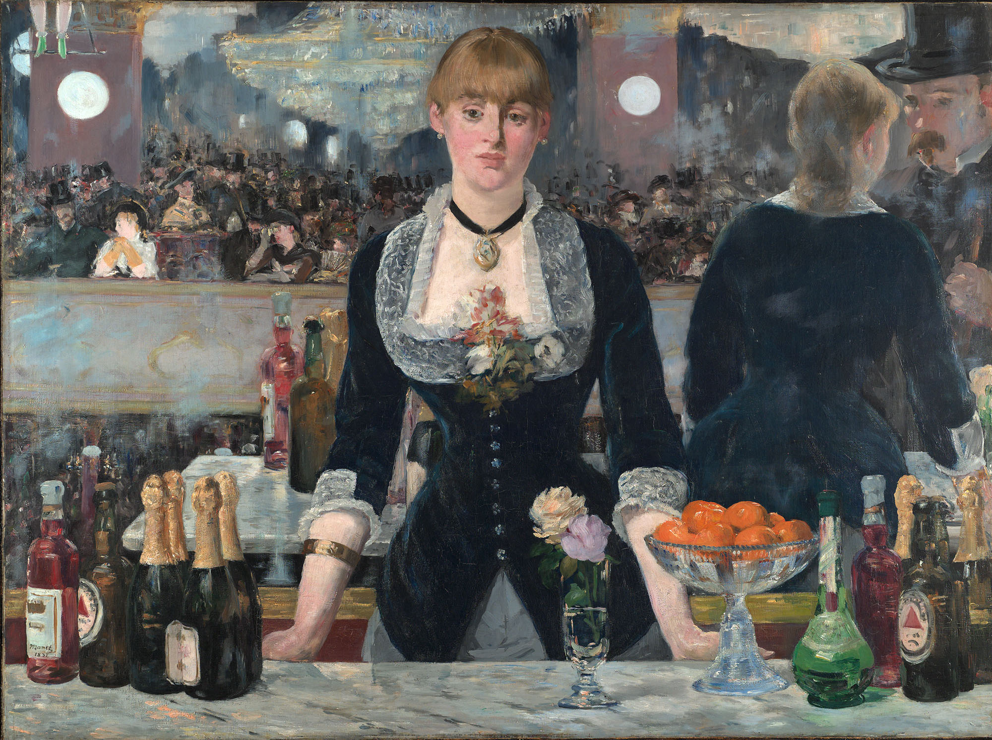 A Bar at Folies-Bergere by Edouard Manet