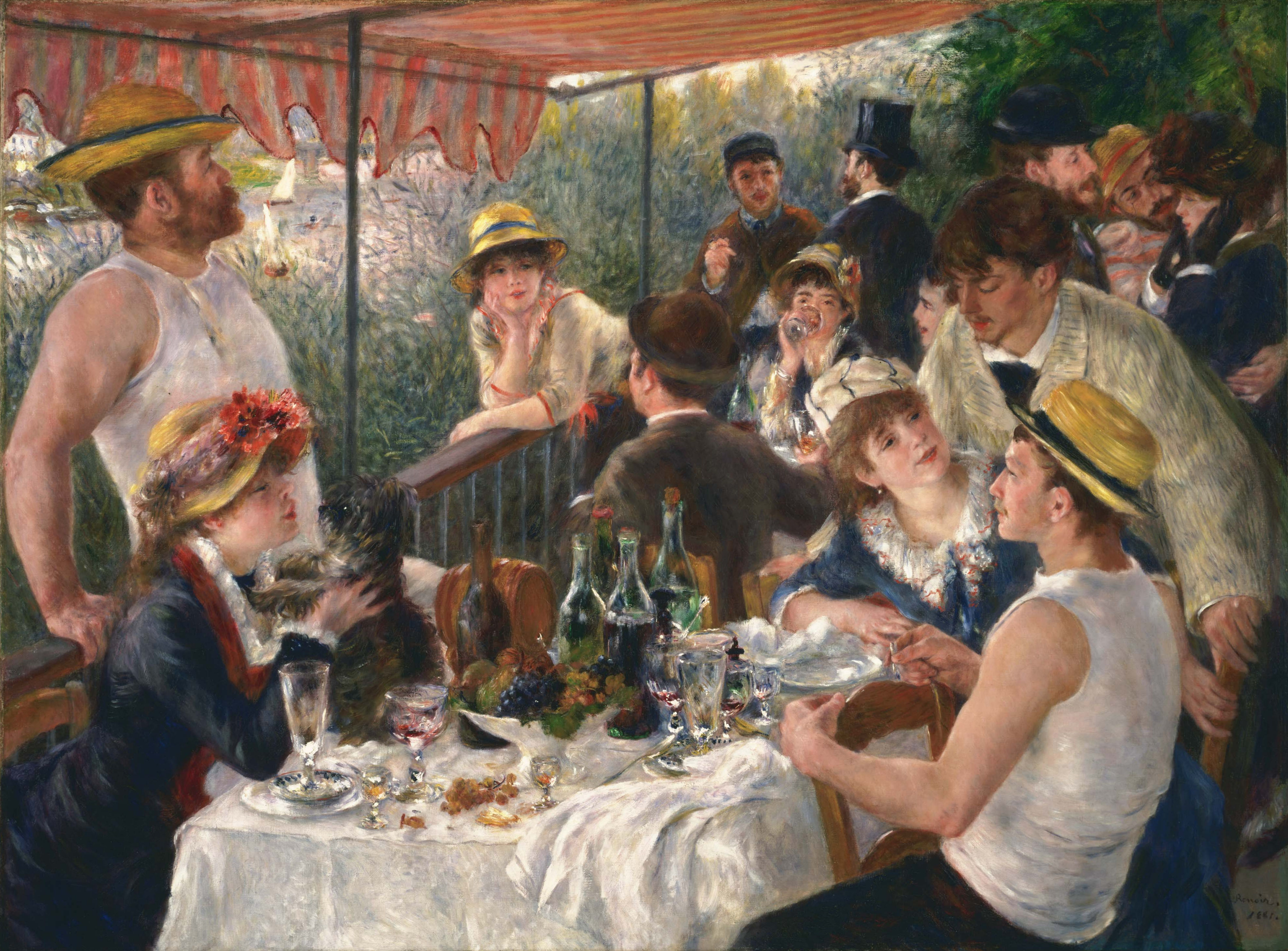 Luncheon of The Bboating Party by Renoir