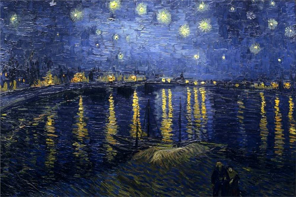 Starry Night Over the Rhone, 1888 by Vincent van Gogh