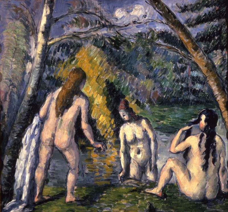 Three Bathers, 1879 by Paul Cezanne